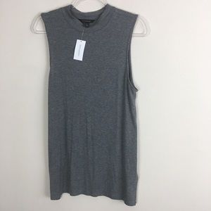 Banana Republic Size XL Gray Sleeveless Turtleneck